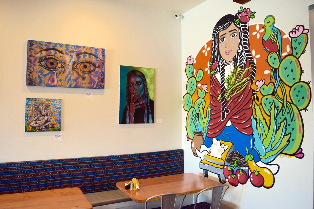 Art inside Canela Cocina Latina | Danny Jensen