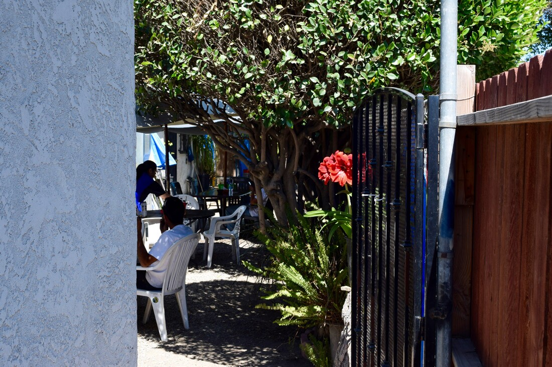 The entrance to Mariscos Doña Mary   Danny Jensen