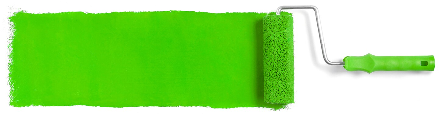 Green paint and roller   Photo: GOLR/iStockPhoto