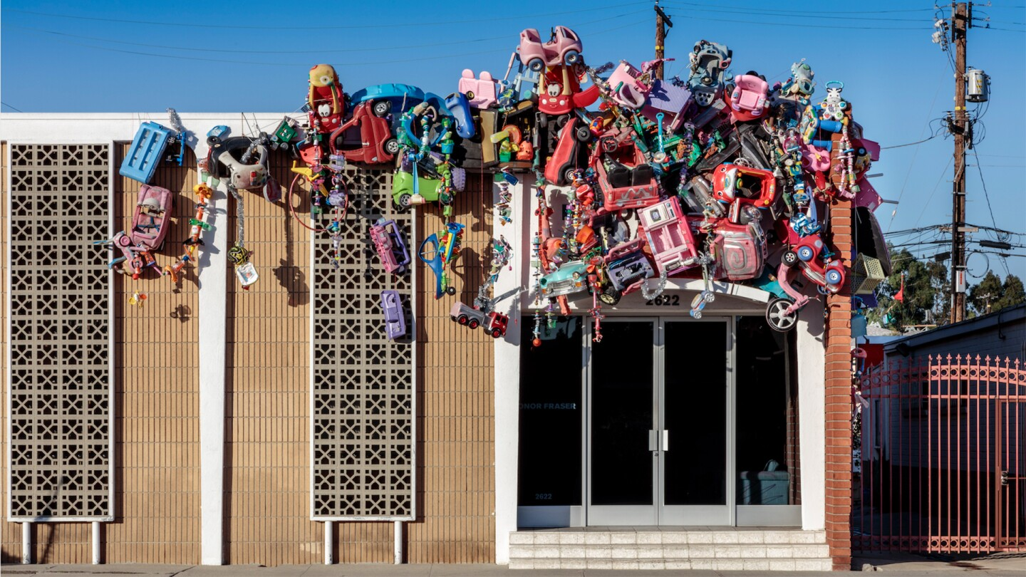 """""""Toy Drive,"""" Plastic toys, plastic garbage, 2020 by Kenny Scharf 