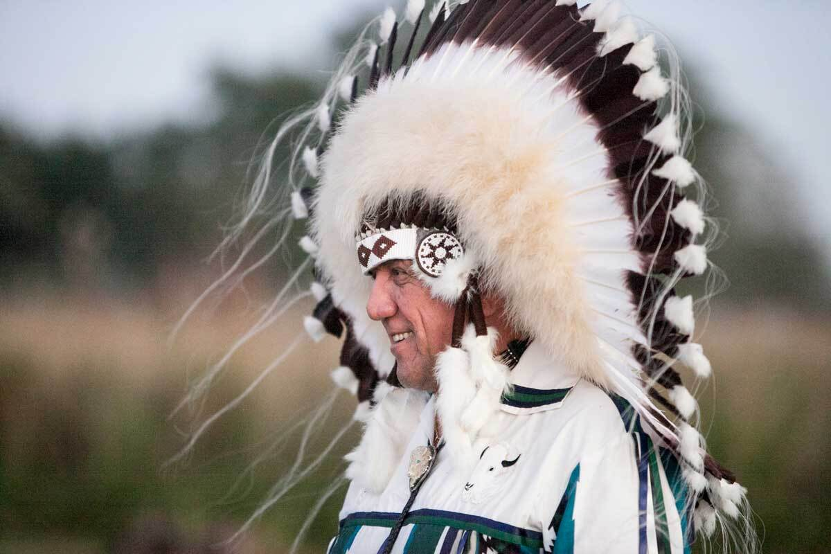 Albert P. Naquin is traditional chief of the Isle de Jean Charles Band of Biloxi-Chitimacha-Choctaw Indians, located in Terrebonne Parish, Louisiana. | Nicky Milne/Thomson Reuters Foundation