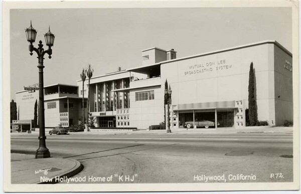 In the 1950s, CBS-owned television station KHJ (since renamed KCAL) moved into the 1313 Vine facility. Courtesy of the California State Library.