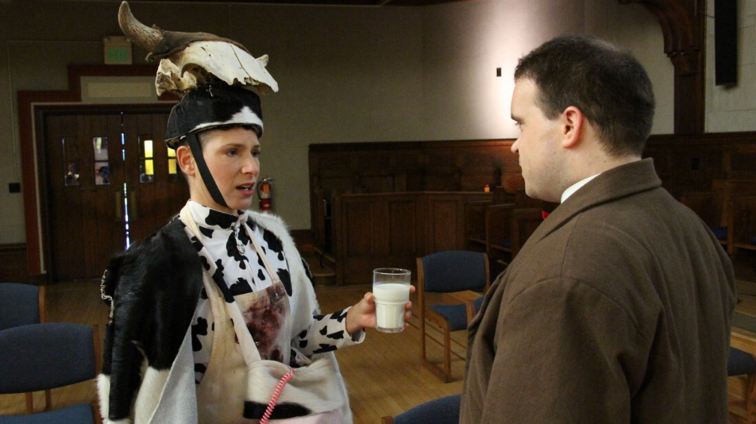 """Kirsten Sollek plays the Cow in """"Vireo""""   Mike O'Toole"""
