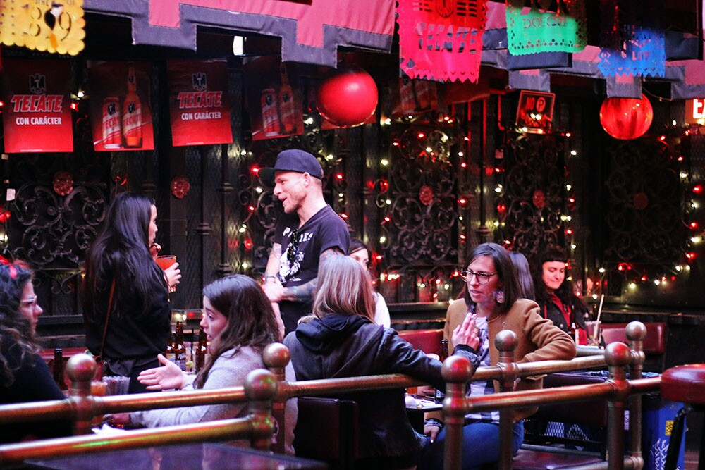 People sitting at tables at La Cita.