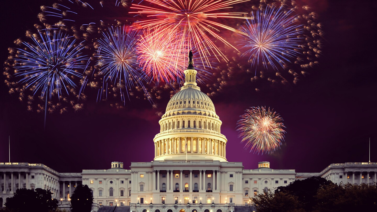 "Fireworks over the U.S. Capitol. | ""A Capitol Fourth"""