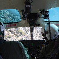 Helicopter searches LA County for a missing man during a simulation that tests new equipment