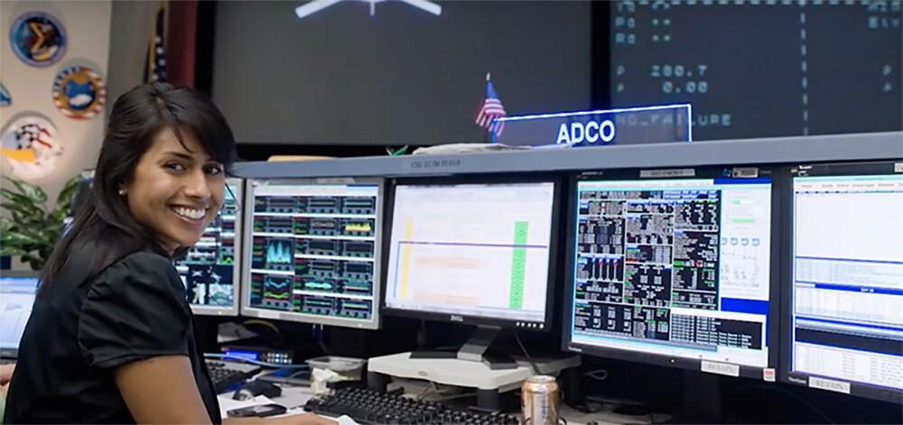 "Pooja Joshi Jesrani | Still from ""NASA's New Flight Directors 2018""/NASA Johnson"