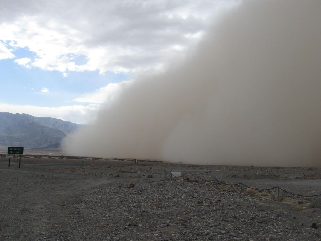 A haboob moving through Furnace Creek in Death Valley National Park   Photo: Naomi McGraw/National Park Service