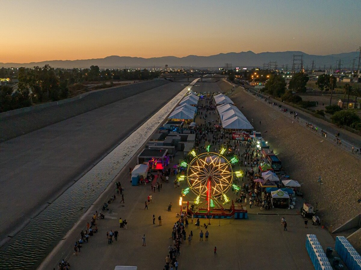 The SELA Arts Festival in July 2019 was held inside L.A. River bed.   L.A. County Public Works
