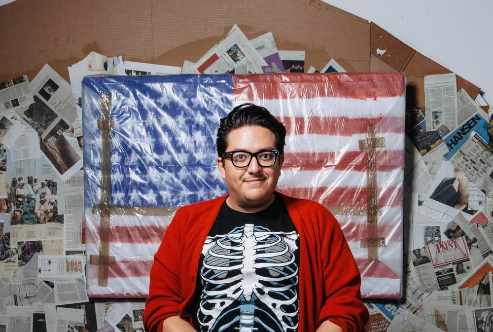Artist Justin Favela in his studio | Mikayla Whitmore