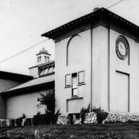 The original College of Fine Arts building in Garvanza