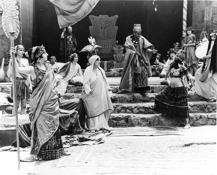 """Pilgrimage Play"" (1922), Salome before Herod."