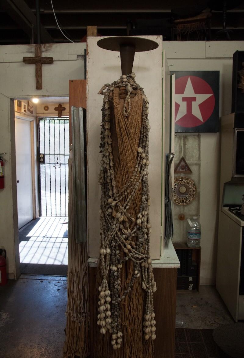 Shiokava sculptures in Compton studio