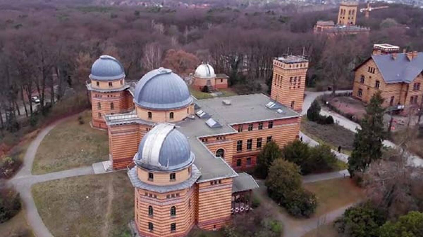 """Aerial view of at the Potsdam Institute for Climate Impact Research in Germany. 