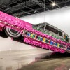 "Justin Favela's ""Gypsy Rose Piñata"" at ""The High Art of Riding Low: Ranflas, Corazon E Inspiracion,"" an exhibition at Petersen Automotive Museum 