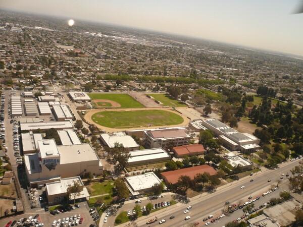 Aerial view of Jordan High School | Photo: Wikimedia Commons