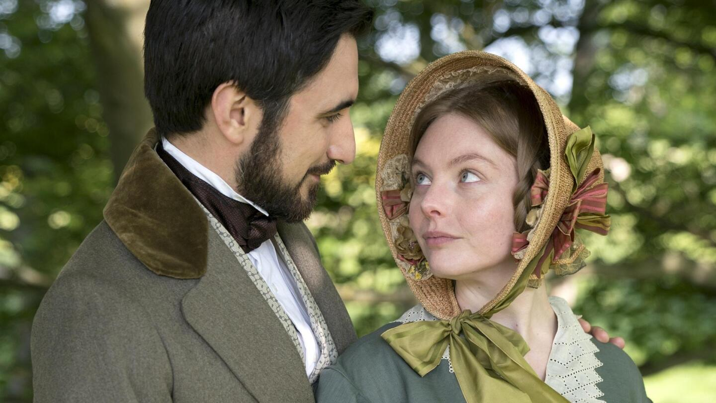 "Charles Francatelli (Ferdinand Kingsley) and Nancy Skerrett (Nell Hudson) look into each other's eyes. | ""Victoria Season 3 on Masterpiece: London Bridge Is Falling Down"""