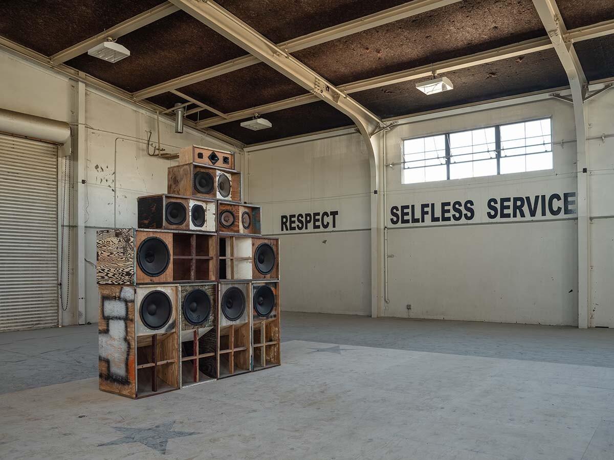 Desert X installation view, Gary Simmons, Recapturing Memories Of The Black Ark, 2014-2019 | Lance Gerber, courtesy of Desert X