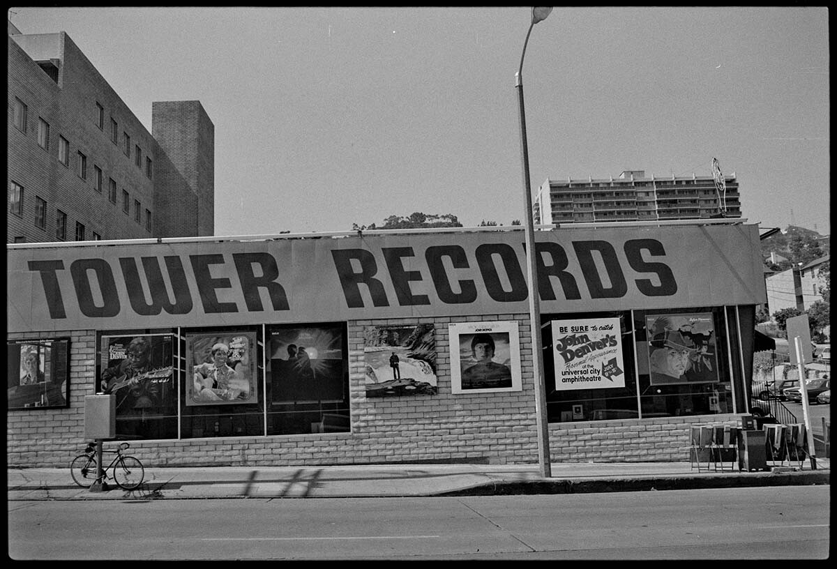 Tower Records, 1973 | From the Streets of Los Angeles Archive. The Getty Research Institute, 2012.M.1. © Ed Ruscha