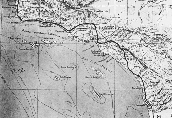 Route of Portola's Expedition. Image courtesy of the USC Digital Library