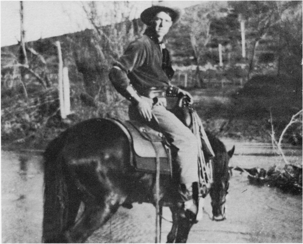 An Essanay cowboy in Niles Canyon. Geoffrey Bell Collection