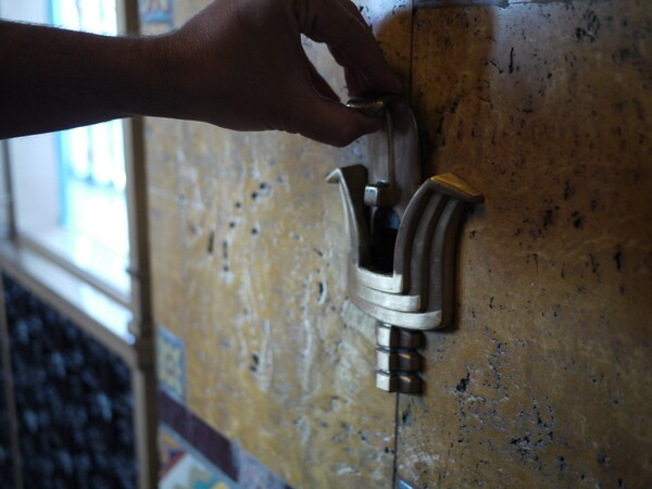 The group learned of the cigar cap cutters installed into the walls of union station when it was first built in the 1930s | Photo: George Villanueva