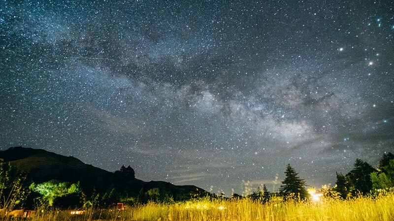 Stars shine bright in this shot from the Big Sur Coast.