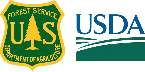The Forest Service will not have to rebrand and use the USDA logo (right)