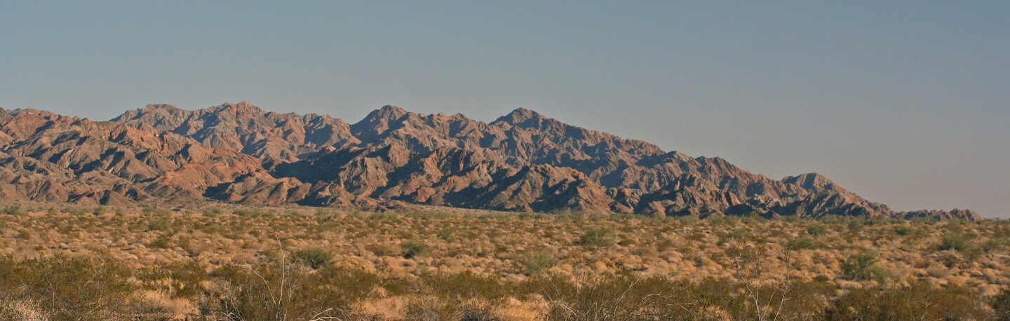 The Chocolate Mountains in Imperial County