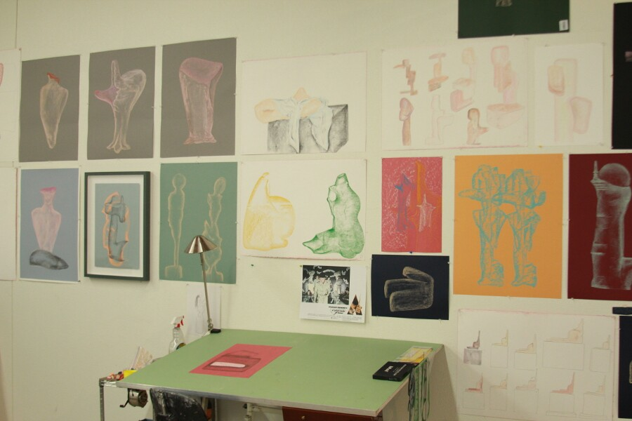 Inside Charles Long's studio. | Photo: Christopher Michno.
