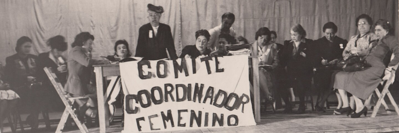 Teresa Arteaga de Flores Magón, Convención Nacional de Mujeres (Women's National Convention), Mexico City, March 6, 1947 | Courtesy of La Casa de El Hijo del Ahuizote, Photographic Collection