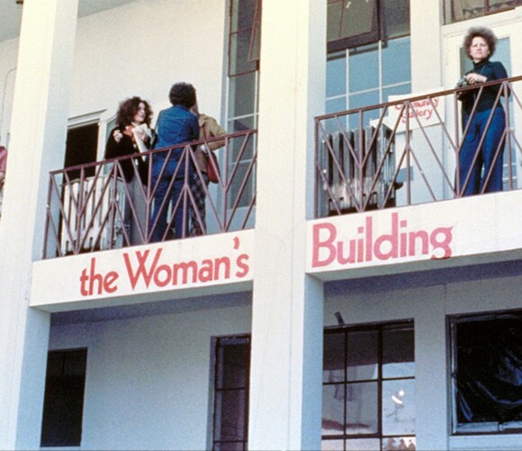 Courtyard of the Grandview Woman's Building, 1973. | Image permission: Otis College of Art and Design Library