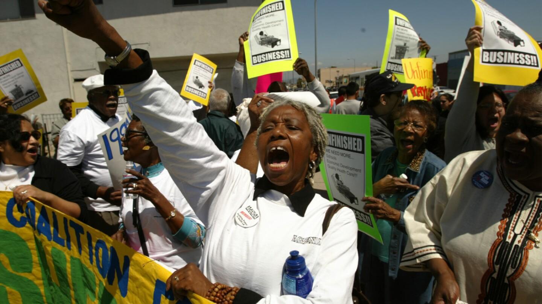 Community Coalition Protest