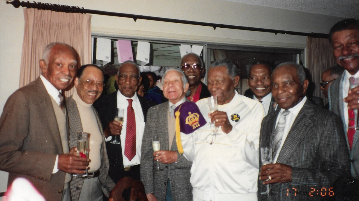 Royal 12 Social Club reunion (Active fromlate 1930s to 1970s) for LeVert Payne's 80th birthday at Mission Hills, California in February 1991. | Carolyne Edwards. Courtesy of the Quinn Research Center