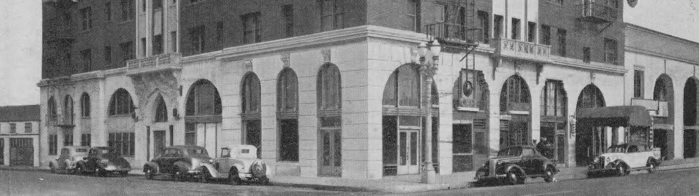 Postcard of the Dunbar (Somerville) Hotel, Los Angeles, ca.1938
