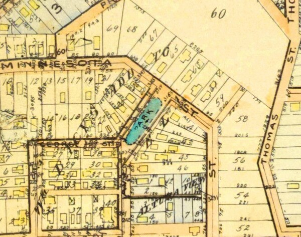 A 1921 real estate map of Ela Park and the surrounding community. Courtesy of the USC Libraries.