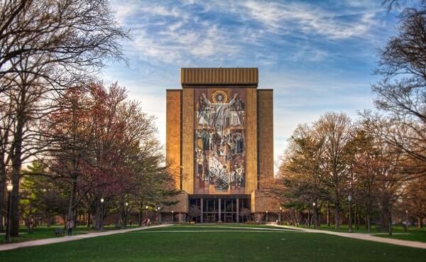 Word of Life on the Notre Dame campus, aka Touchdown Jesus I Photo: Jim Denham via flickr