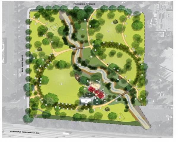 Site plan of the proposed Johnny Carson Park upgrade | Courtesy of Parks, Recreation and Community Services for the City of Burbank