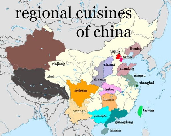 Chinese Regional Food Map