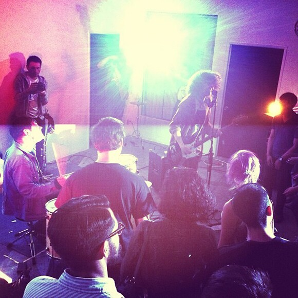 Japanther, playing in April 2013. | Photo courtesy Pauline Lay.
