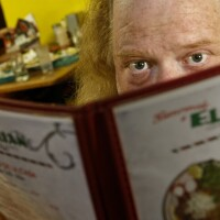 Jonathan Gold out in the field for a restaurant review