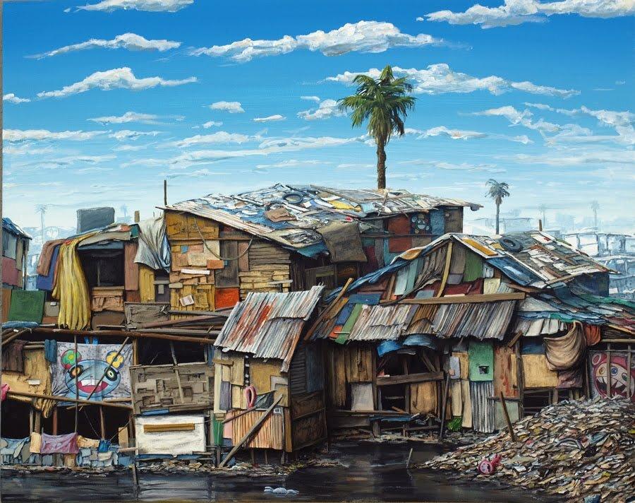 "Jeff Gilette, ""Murakami ll ."" Oil on canvas. | Image: Courtesy of the artist."