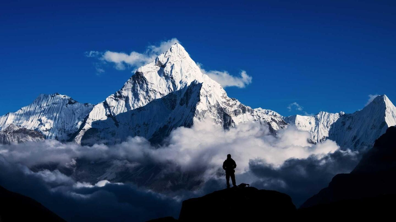 The Himalaya, the highest mountain range on earth.