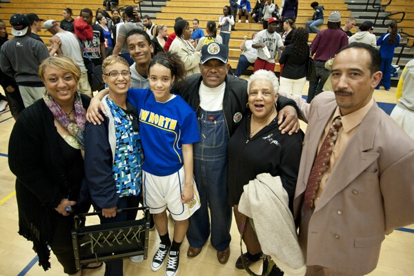 The DeCoud family, three generations   Photograph by Douglas McCulloh