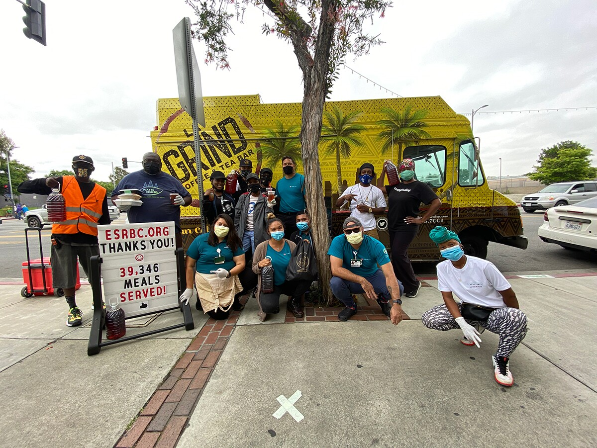 East Side Riders Bike Club undertake a community feeding program | Courtesy of East Side Riders
