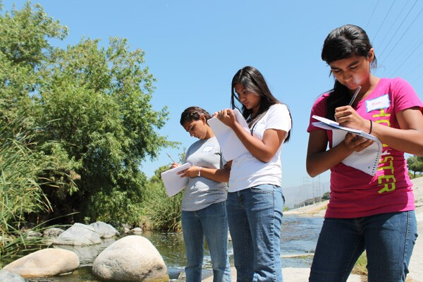 On their first L.A. River walk the girls were asked to write a journal entry about their experience.