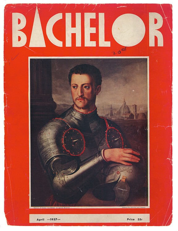 Bachelor, Vol. 1, No. 1 (April 1937). | Courtesy ONE Archives at the USC Libraries.