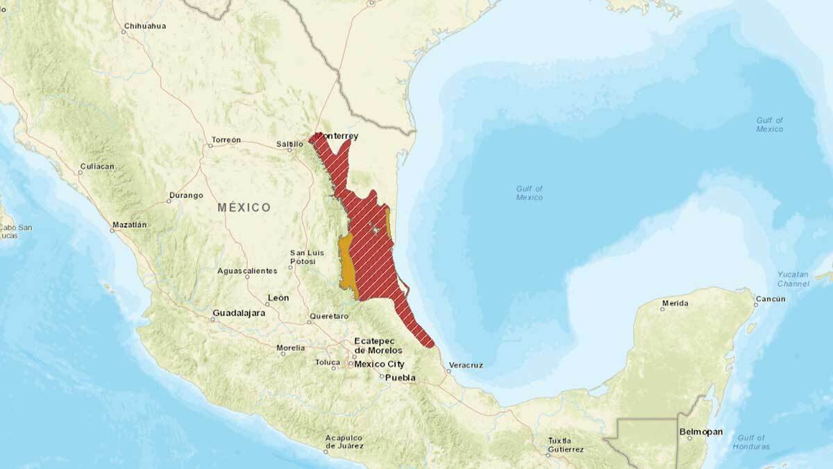 The red-crowned parrots' original habitat in northeastern Mexico, in the states of Tamaulipas and San Luis Potosí. | International Union for the Conservation of Nature