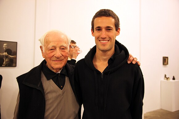 Morrie and his grandson