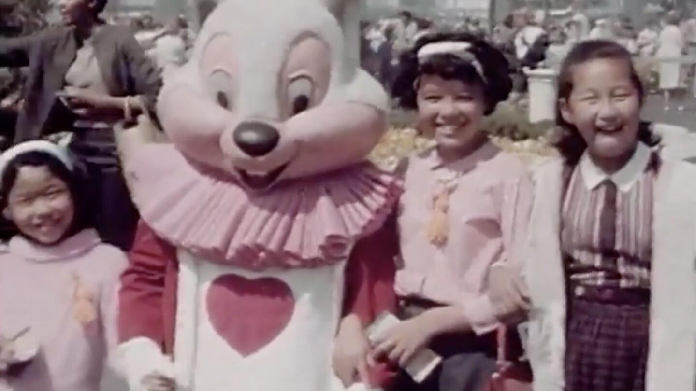 Screengrab of a Disneyland home movie, 1960s